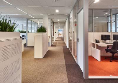 GS1 afdeling - open werkplekken gecombineerd met concentratieruimtes