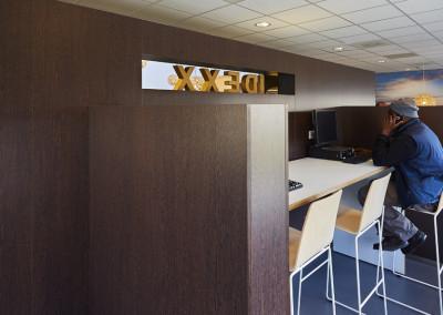 Idexx Restaurant - buiten lunchtijd kan er gewerkt worden