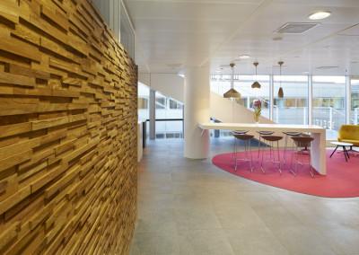 Dentons Boekel Advocatenkantoor - houtaccenten geven een warme uitstraling aan het interieur
