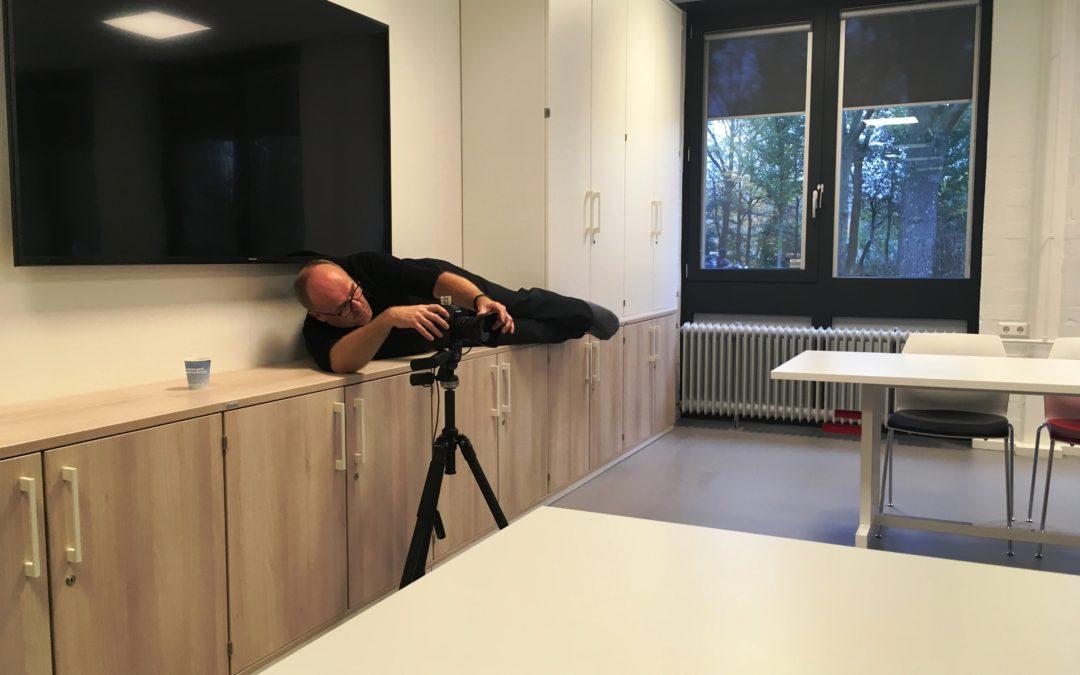 Voor onze fotograaf is niets te gek om het perfecte plaatje te maken!