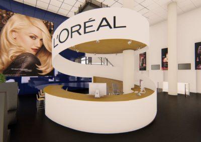 Balie L'Oreal ontwerp
