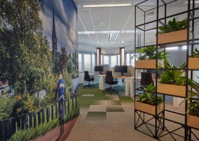 Gemeente Amstelveen - fotowand en groene roomdivider